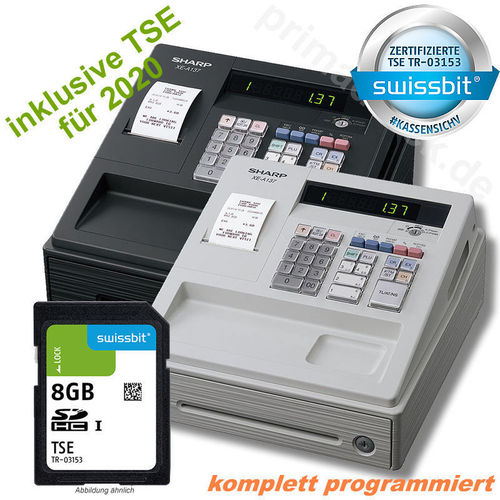 SHARP Gastro Registrierkasse Kassensystem GoBD-//GDPdU konform Schwarz NEU