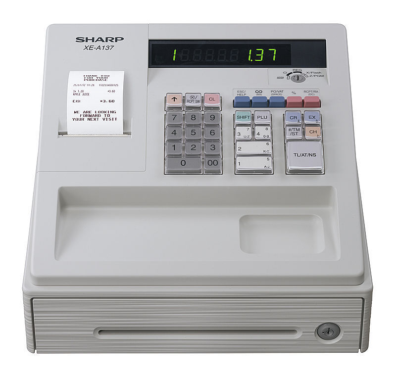 Sharp XE-A177X WH Registrierkasse mit TSE